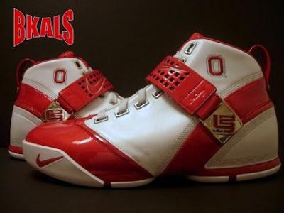 b70c066da4e Nike Zoom LeBron V Ohio State University PE