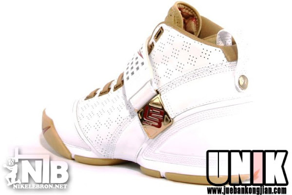 LeBron8217s Home Nike Zoom LeBron V White and Gold