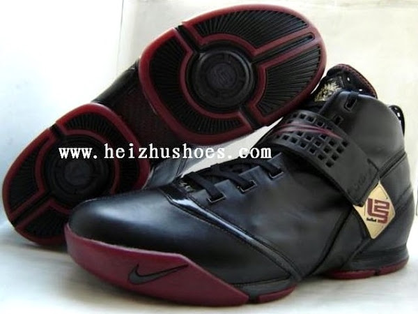 Nike LeBron V Black and Crimson Player Exclusive