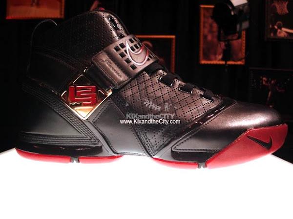 Nike Zoom LeBron V BlackCrimson showcase
