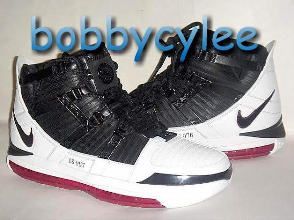 Nike Zoom LeBron III White Black and Red sample