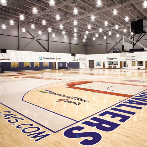 Cavaliers unveil their new training facility Cleveland Clinic Courts