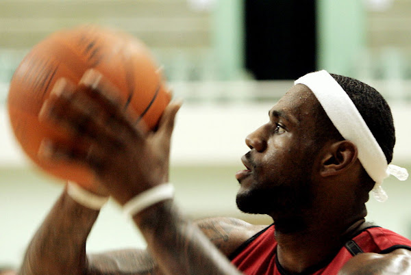 King James in China photo recap Practice