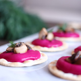 Roasted Beetroot-Ricotta Canapés