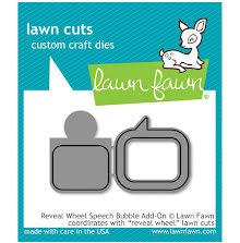 Lawn Fawn Custom Craft Die - Reveal Wheel Speech Bubble