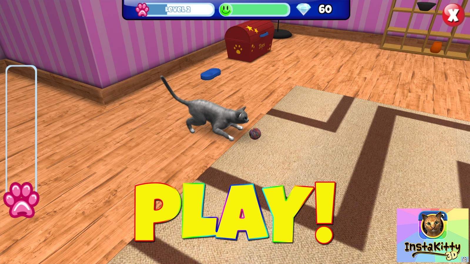 InstaKitty 3D-Virtual Cat Sim- screenshot