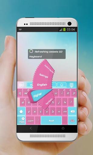 清新的糖果 GO Keyboard|玩個人化App免費|玩APPs