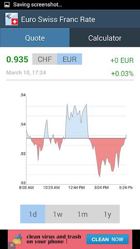 Euro / Swiss Franc Rate ApkUpdate 2
