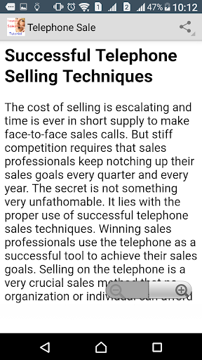 Telephone Sales Tutorial screenshot 3