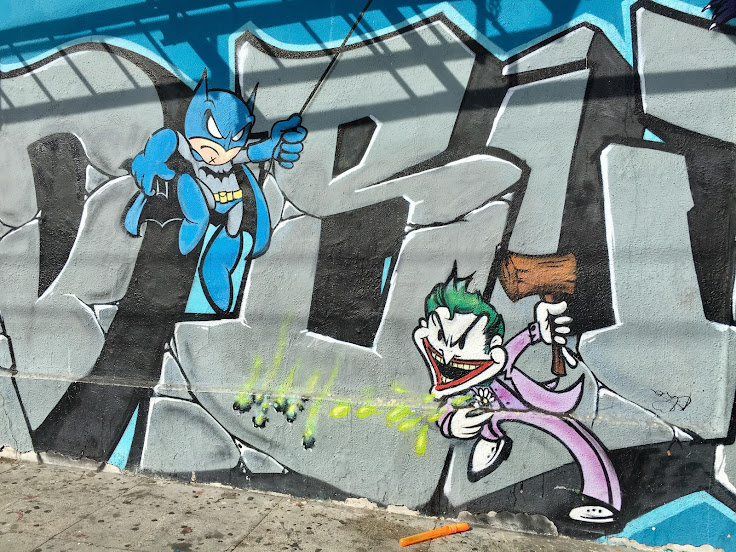 """Batman and The Joker square off in """"Superheroes and Villains."""""""