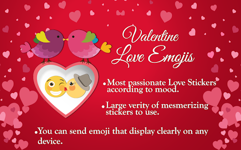 Valentine Love Emojis and Heart Emoji Screenshot