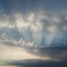 sky by Gordana Djokic - Landscapes Cloud Formations ( clouds, sky, blue, landscape, sun )