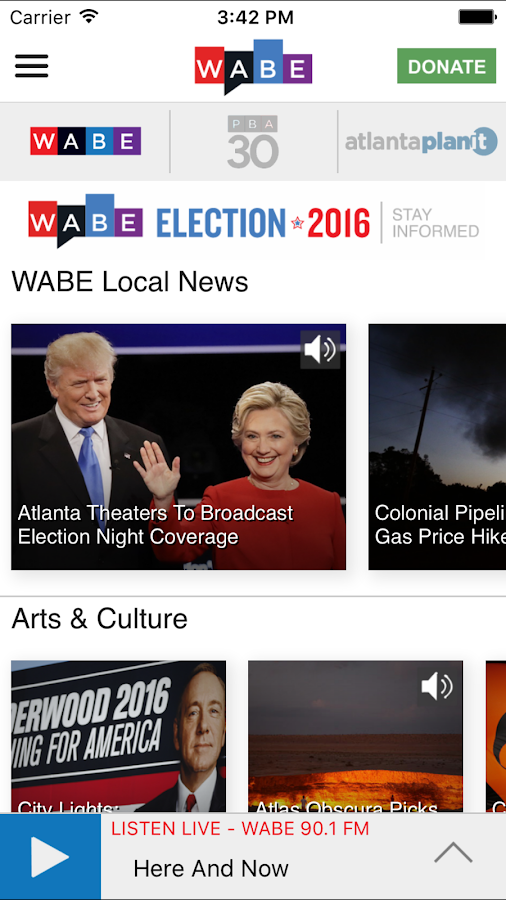 WABE Public Broadcasting App- screenshot