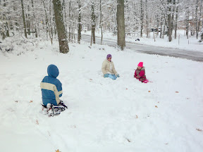Kids in the snow