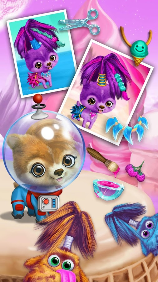 Space Animal Hair Salon- screenshot
