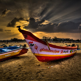 Boats by Vamsi Korabathina - Landscapes Beaches