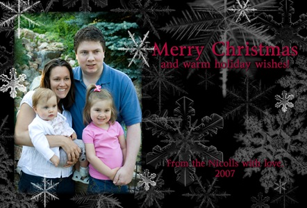 christmas card copy