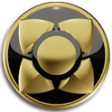 3D GOLD BLACK Next Launcher icon