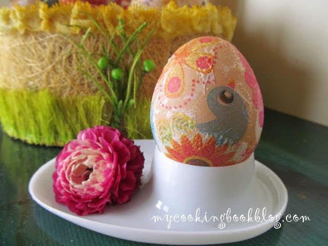 Как се правят Великденски яйца с декупаж
