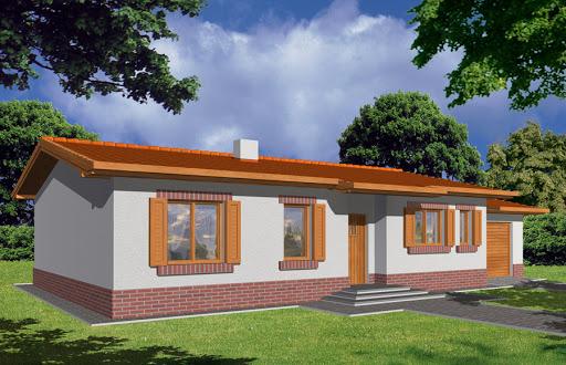 projekt Nina Plus wersja B pojedynczy garaż