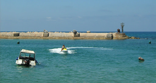 Jaffa harbor and seawall