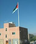 Giant Jordanian flag at the Aqaba shore