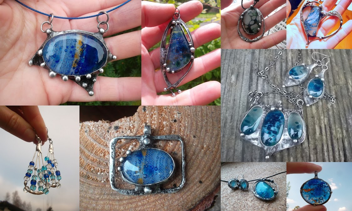 Šperky ze skla - sklíčka od Jar23