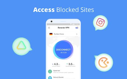 Barando VPN - Super Fast Proxy, Secure Hotspot VPN  image 5