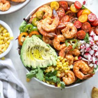 Tequila Shrimp Taco Salad.