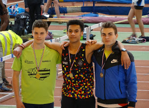 Photo: Brice Champion dAquitaine Minimes Salle 50 m Haies