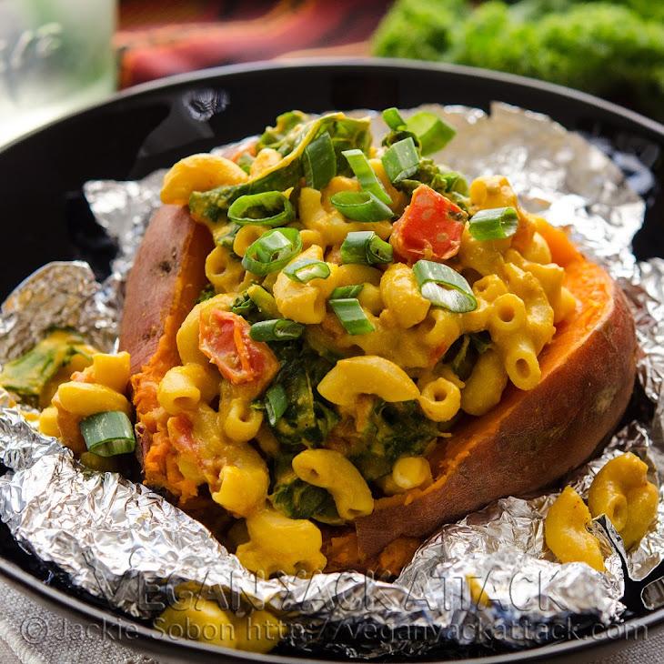 Smoky Mac Stuffed Sweet Potato