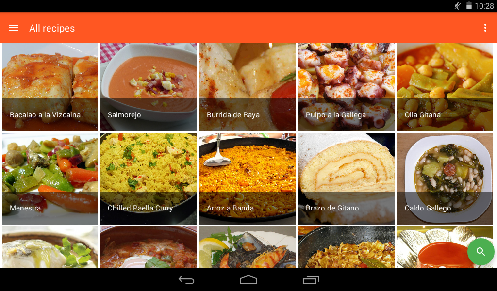 Spanish food spanish recipes android apps on google play for Cuisine in spanish