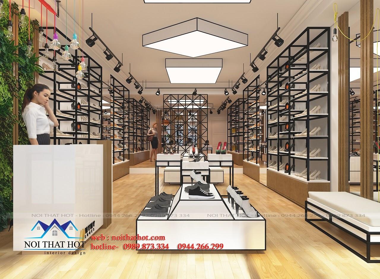 Thiết kế shop giày dép hàng hiệu