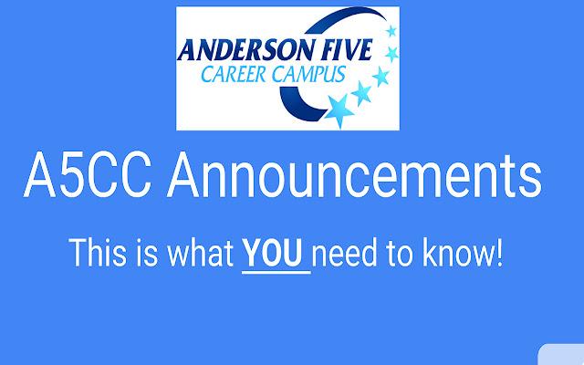 AVCC Announcements