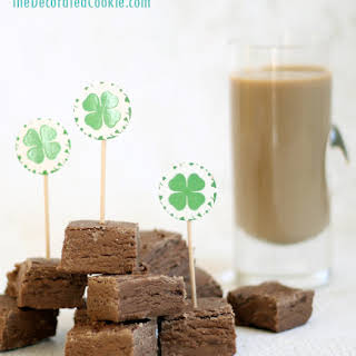 Irish Cream Fudge Shots.