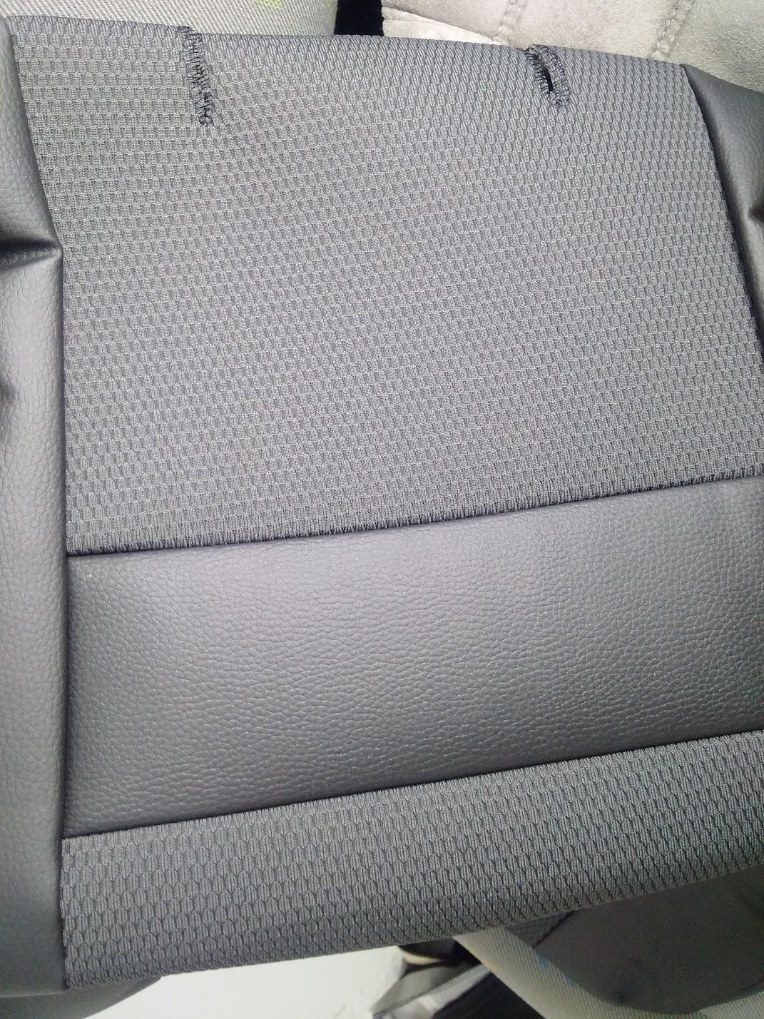 ANTHRACITE GREY VAN SEAT COVERS FORD TRANSIT CUSTOM 2013-19 ST LOGO