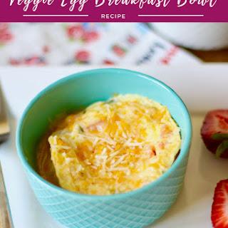 Veggie Egg Breakfast Bowl.