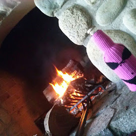 The fireplace by Karen McGregor - Public Holidays Christmas