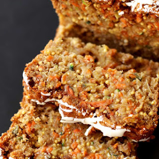 Gluten Free Zucchini, Carrot and Apple Olive Oil Cake.