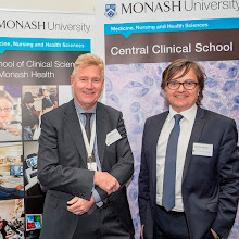 Photo: Profs Steve Jane and Eric Morand, respectively Heads of Central Clinical School and the School of Clinical Sciences at Monash Health. http://www.med.monash.edu.au/cecs/events/2015-tr-symposium.html