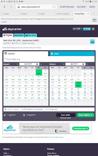 Cheap Flights Calendar 1.1 screenshots 8