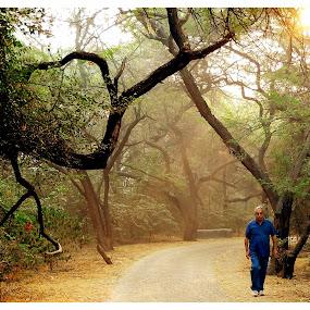 morning walk... by Shubhendu Bikash Mazumder - City,  Street & Park  City Parks ( nature )