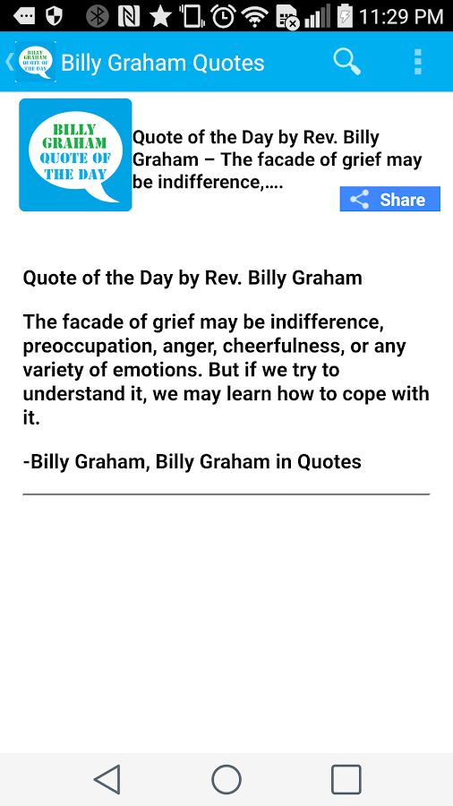 Billy Graham Quote of the Day- screenshot