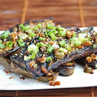 Asian Grilled Eggplant with Soy Sesame Sauce