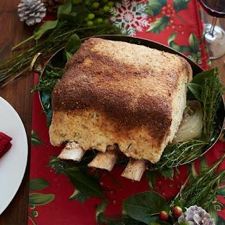 Rib Roast with Horseradish Salt Crust
