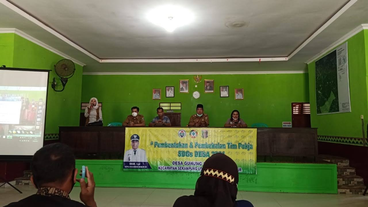 Sosialisasi dan Pembekalan SDGs di Desa Gunung Sugih Besar Kecamatan Sekampung Udik