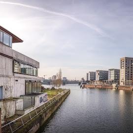 Frankfurt by Ole Steffensen - Buildings & Architecture Office Buildings & Hotels ( frankfurt, office buildings, factory, germany, river, main )