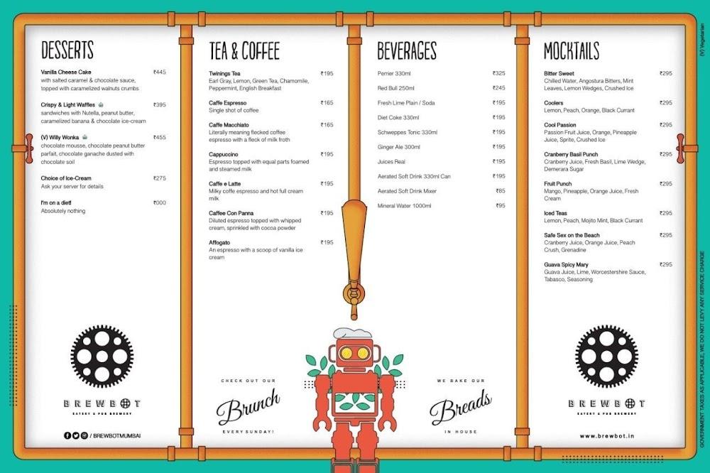 Brewbot Eatery & Pub Brewery menu 2