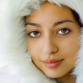 Winter White by Alabama Photos - People High School Seniors ( winter, white, beauty, exotic, portrait, eyes )
