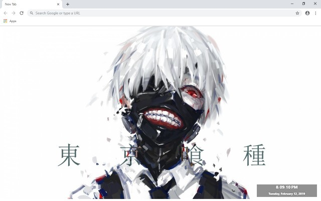 Tokyo Ghoul New Tab & Wallpapers Collection
